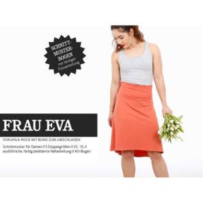 """Papierschnittmuster """"Frau Eva"""" Jerseyrock mit Krempelbund Gr 146 -48 - Studio Schnittreif"""