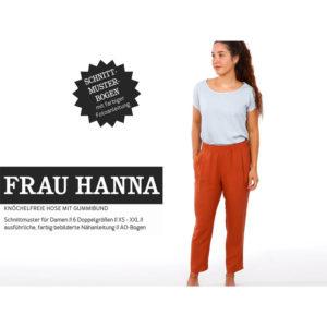 "Papierschnittmuster ""Frau Hanna"" Hose mit Gummizug Gr 146 - 52 - Studio Schnittreif"