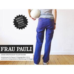 """Papierschnittmuster """"Frau Pauli"""" Sweathose mit Taschen Gr 146 - 48 - Studio Schnittreif"""