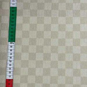 beschichtete Baumwolle - Schachbrett - beige