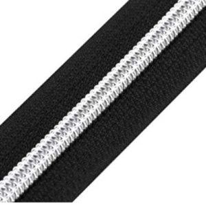 Reissverschluss 5 mm - schwarz / silber