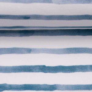 "Jersey Baumwolle - ""ocean breeze"" - Streifen weiss/ blau"