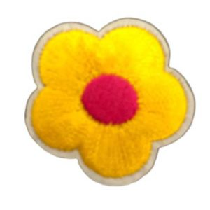 Applikation - aufbügelbar - Blume - gelb