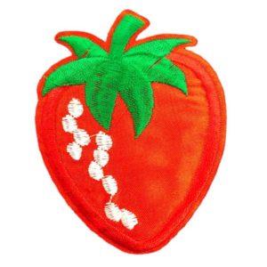 Applikation - aufbügelbar - Erdbeere