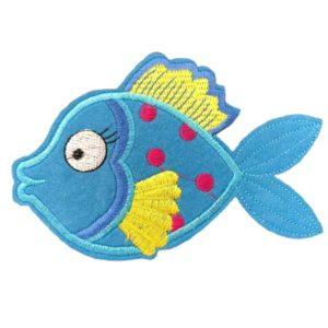 Applikation - aufbügelbar - Fisch