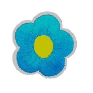 Applikation - aufbügelbar - Blume - blau