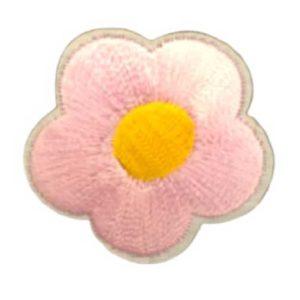 Applikation - aufbügelbar - Blume - rosa