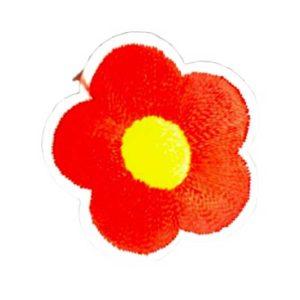 Applikation - aufbügelbar - Blume - rot