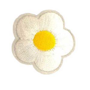 Applikation - aufbügelbar - Blume - weiss