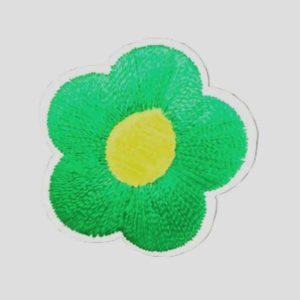 Applikation - aufbügelbar - Blume - grün