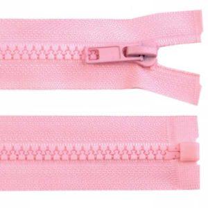 Krampenreissverschluss 5 mm - teilbar - rosa