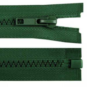Krampenreissverschluss 5 mm - teilbar - dunkelgrün 60 cm