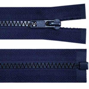 Krampenreissverschluss 5 mm - teilbar - dunkelblau 70 cm