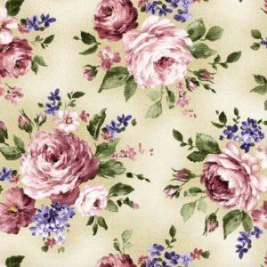 "Baumwolle - Michael Miller ""rose bouquet"" - beige"