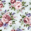 "Baumwolle - Michael Miller ""rose bouquet"" - hellblau"