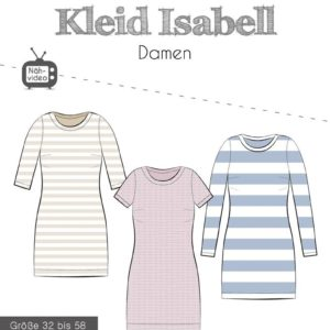 Papierschnittmuster Kleid Isabell Gr. 32 - 58 - Fadenkäfer