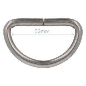 D-Ring 30mm / 40mm - nickel matt