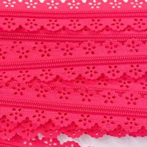 Reissverschluss Spitze 3 mm - pink