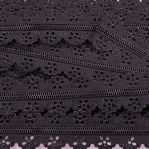 Reissverschluss Spitze 3 mm - schwarz
