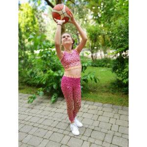 "Albstoffe Hamburger Liebe Performance Activewear Jersey ""Safari pink"""