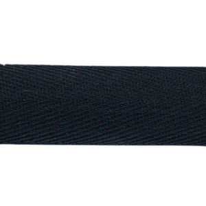 Gewebeband / Köperband 20 mm - schwarz