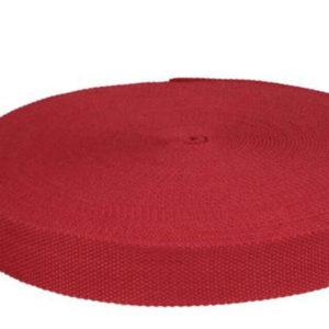 Gurtband 32 mm Baumwolle - dunkelrot