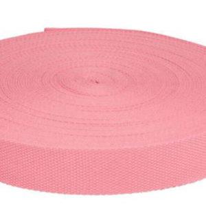 Gurtband 32 mm - Baumwolle rosa
