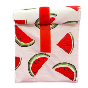 Lunch-/ Wetbag - Melone weiss / rot