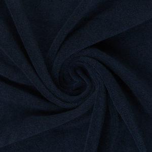 Frottee - uni - dunkelblau