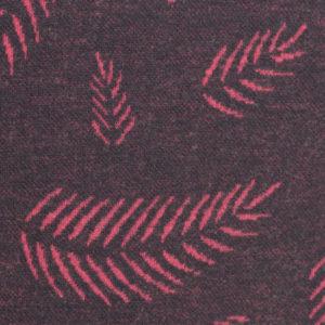 "Jacquardjersey - ""Twigs by Lycklig design"" - dunkelgrau / pink"