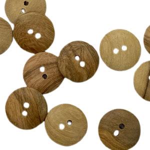 Holzknopf 2 Loch 18 mm - natur