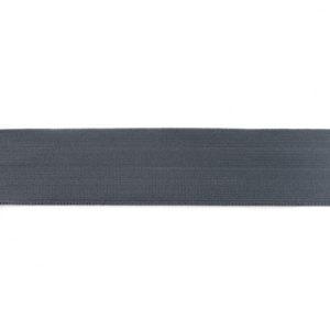 Gummiband 40 mm - glatt - dunkelgrau