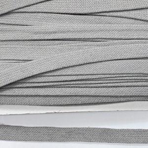 Baumwollflachkordel 20 mm - hellgrau