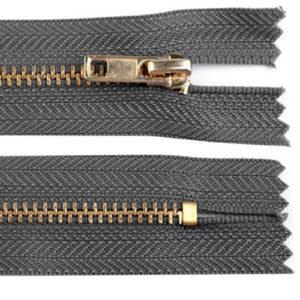 Hosenreissveschluss 4 mm 16 cm - dunkelgrau