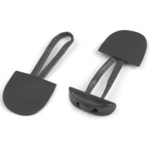 Knebelverschluss Kunstleder - dunkelgrau