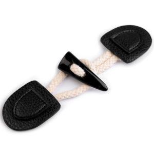 Knebelverschluss Horn - schwarz