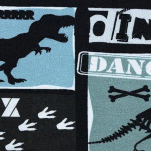 """Sweat angeraut - """"Basel"""" Dinos - blau / schwarz"""