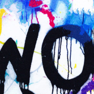 "Sweat angeraut - ""Toronto"" - Graffiti - bunt"