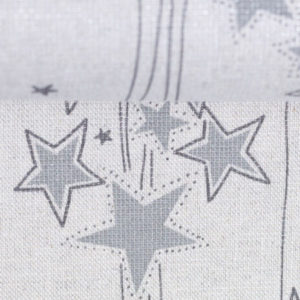 "Baumwolle Leinenoptik- ""Lothar"" Sterne - natur/ silber"