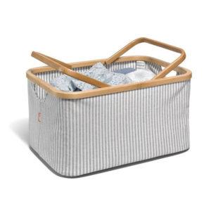 """Prym Korb """"Fold und Store Canvas und Bambus"""" 45 x 30 x 22 cm"""