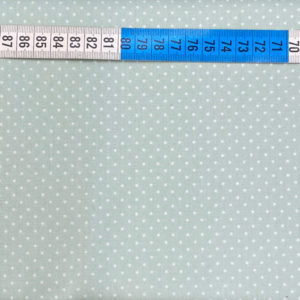 Baumwolle - Minipunkte 2 mm - mint / weiss
