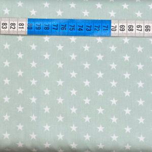 Baumwolle - Sterne 1 cm mint / weiss
