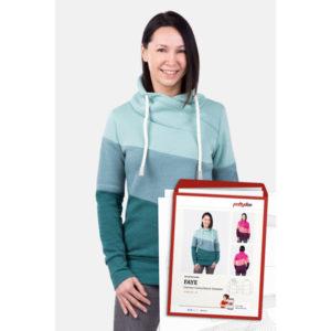 """Papierschnittmuster Colourblock Sweater """"Faye"""" Damen Gr 32-54 - Pattydoo"""