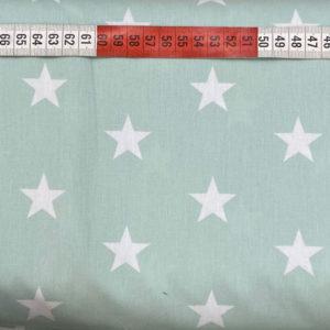 Baumwolle - Sterne 3 cm - mint / weiss